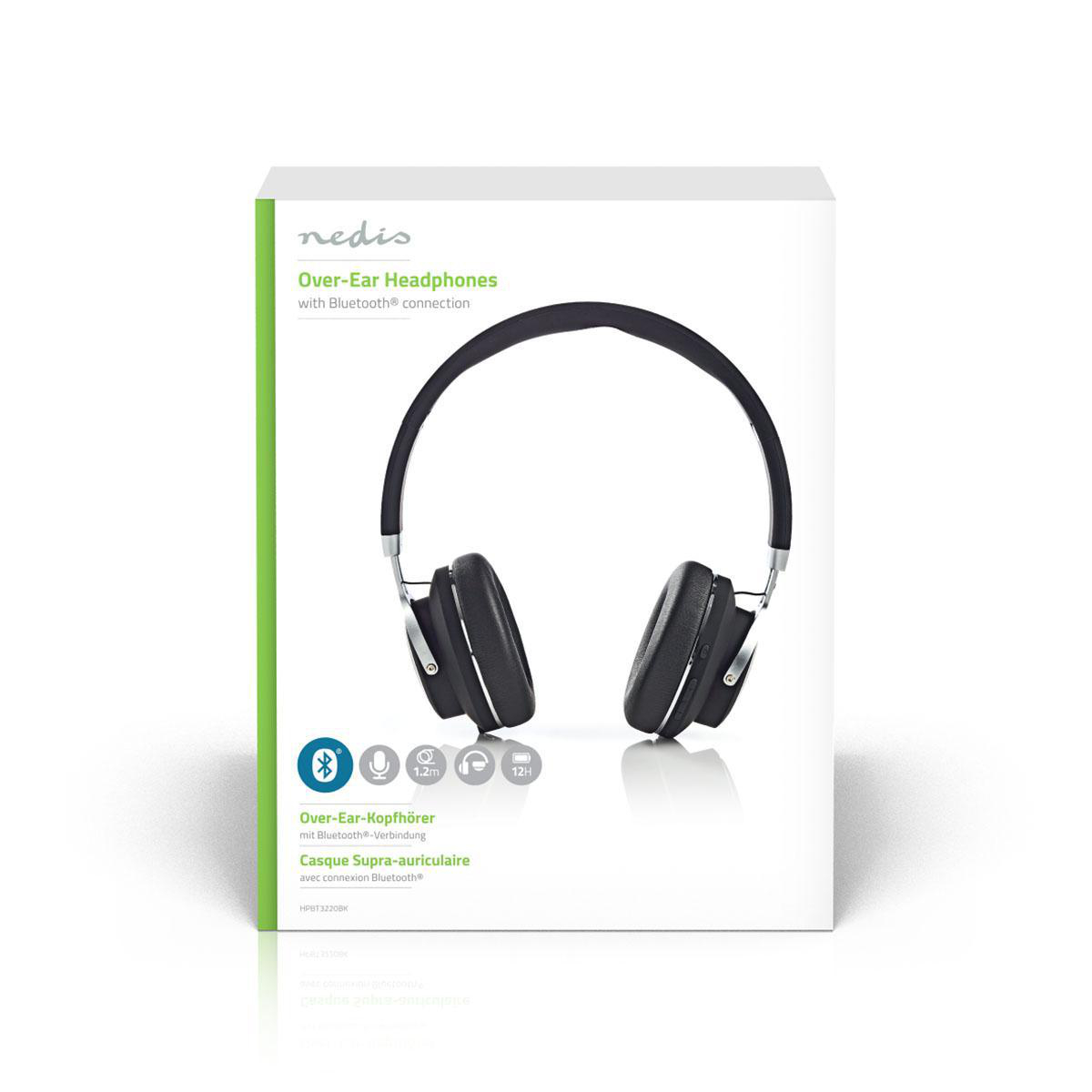 Wireless Headphones Bluetooth On Ear Travel Pouch Black Nedis