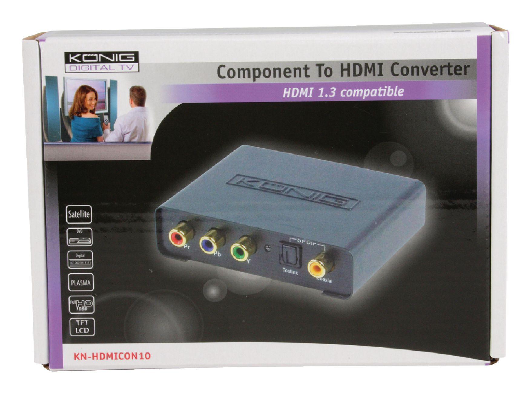 K/önig Konverter Component Digitales-Audio AUF HDMI