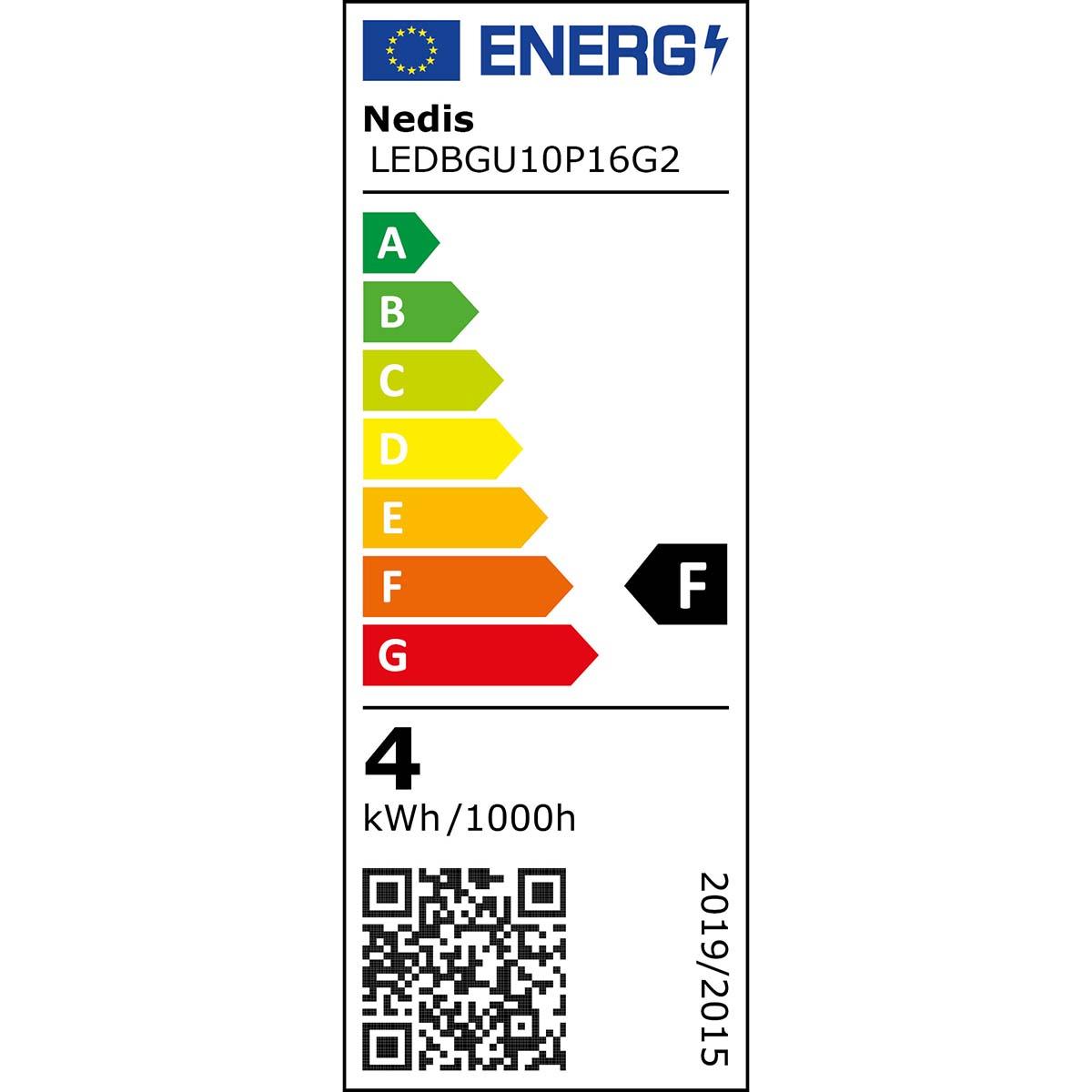 Nedis Lampe DEL GU10 par 16 4 W 230 lm 3 Pack ledbgu 10P163P1 Ampoule