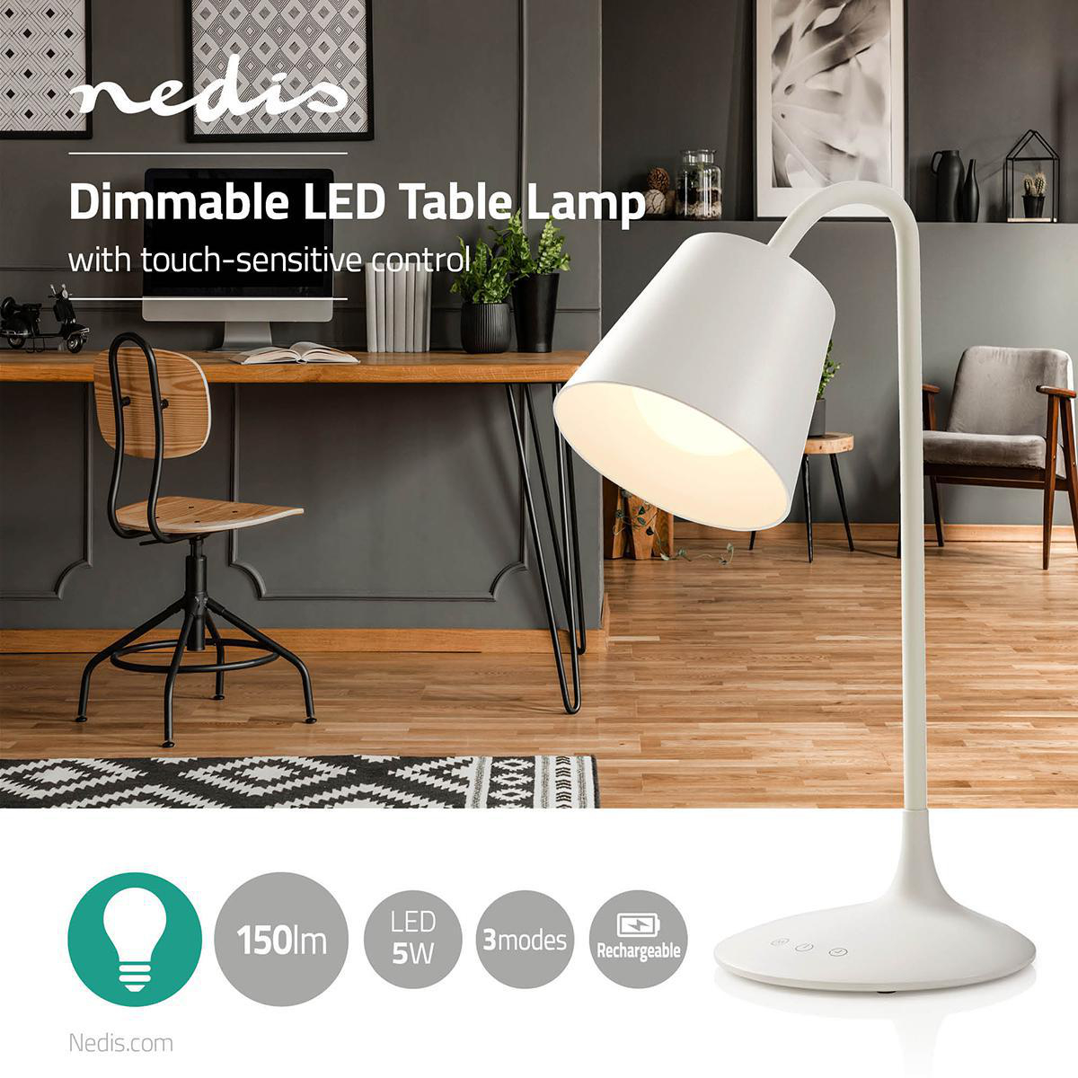 Dimmable Led Table Lamp Touch Control