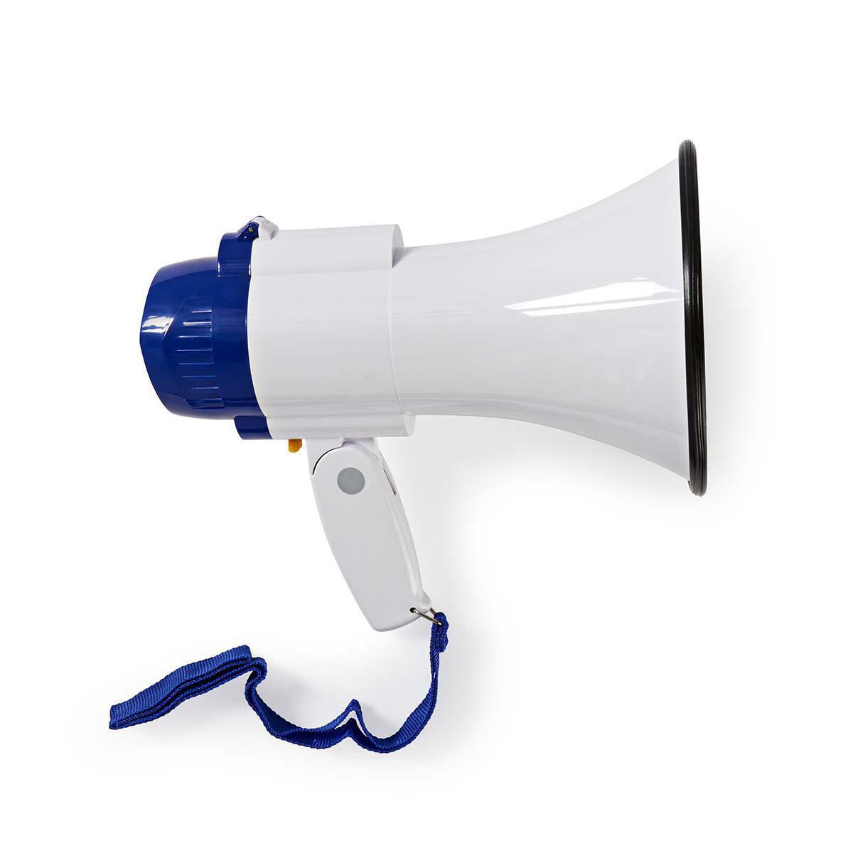 Megafon mmikrofon 10W (250m) HvitBlå Nedis