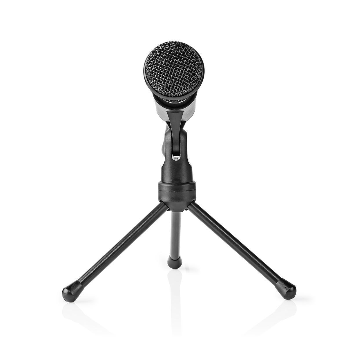 Kablet Mikrofon | AvPå Knapp | Med Stativ | 3,5 mm | Nedis