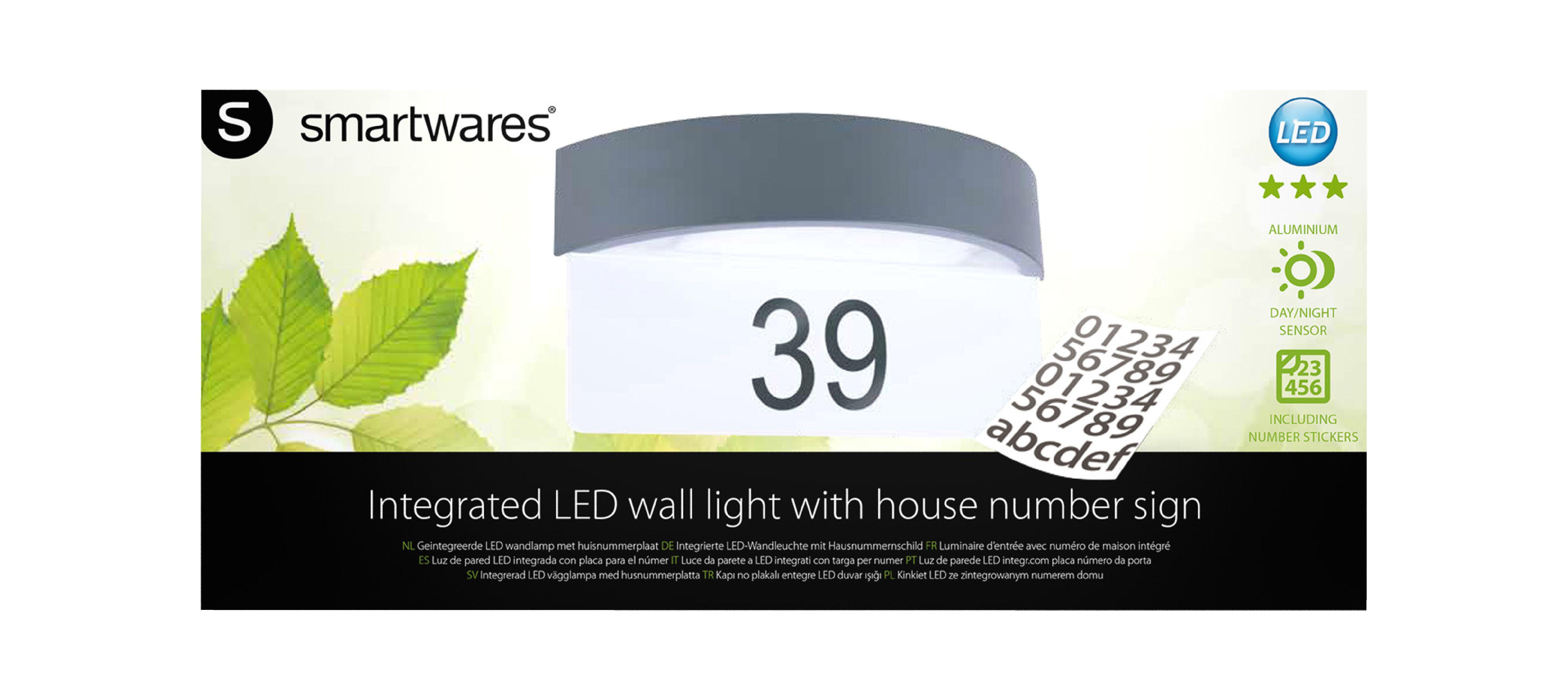 Led Outdoor Wall Light 7 W 630 Lm Dark Grey Nedis