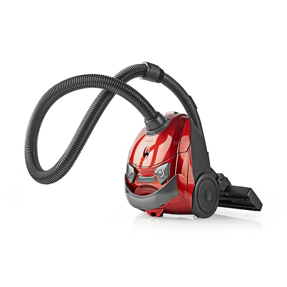 Støvsuger   Med Pose   700 W   1.5 L Støvkapasitet   Rød   Nedis