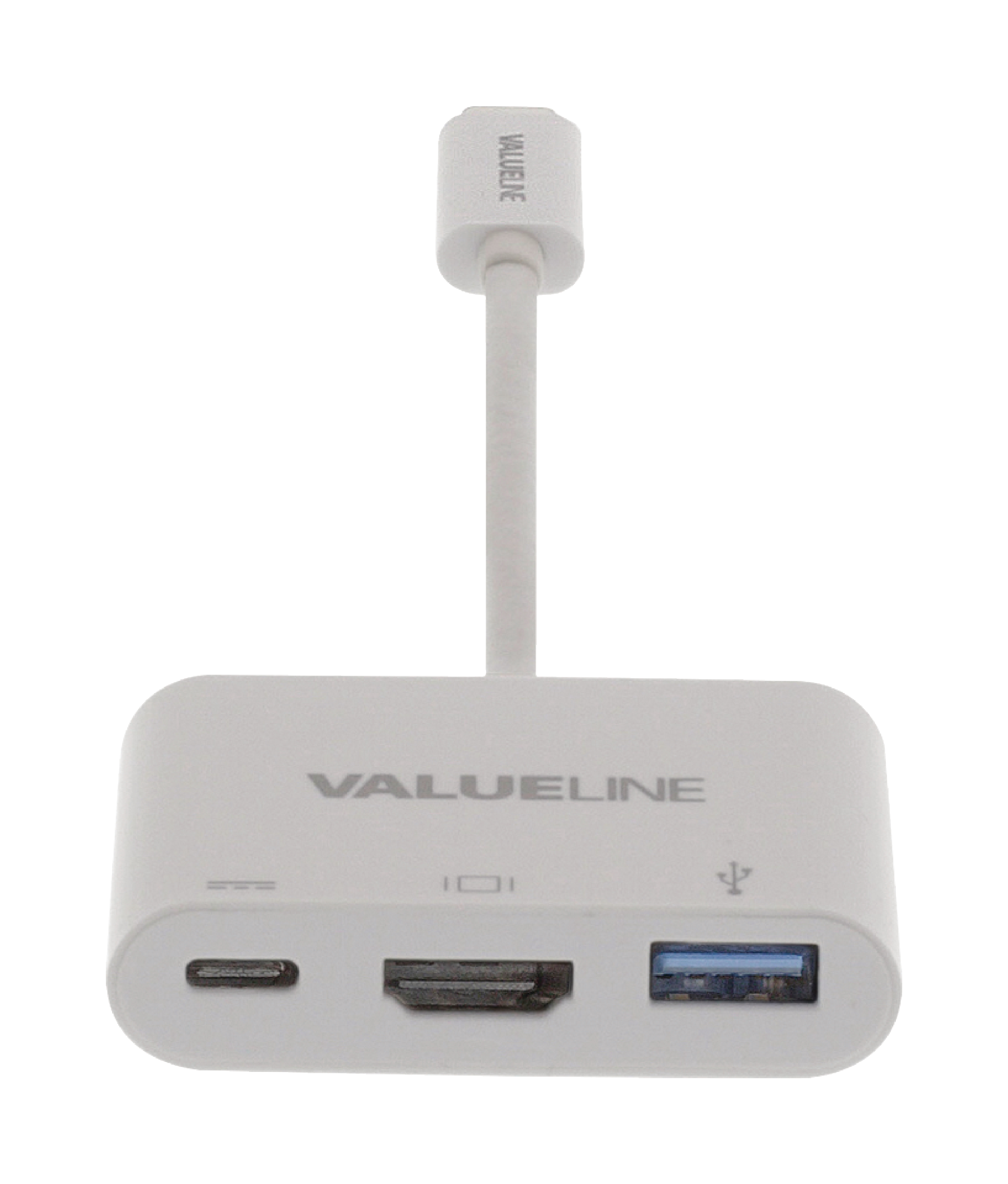 Type C USB 3.1 Hub,USB-C to USB 3.0/ HDMI/ Type C Female Charger Adapter White
