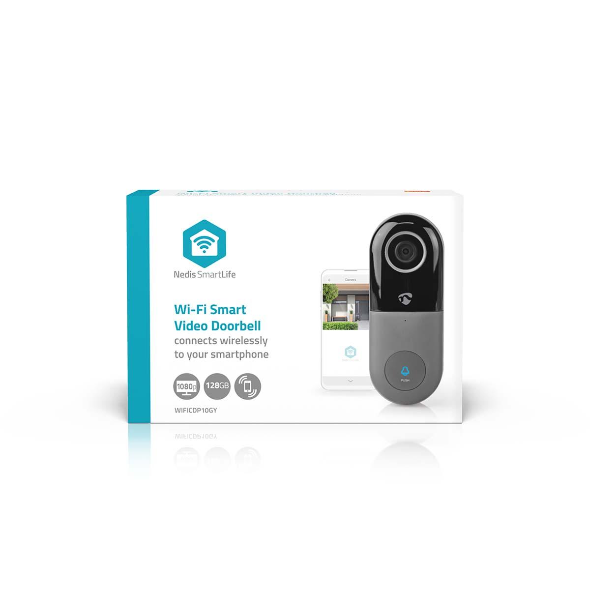 Nedis-WLAN Smart-Sonnette avec caméra-App-Contrôle-Microsd slot
